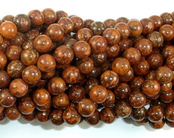 Firework Jasper, 6mm (6.7mm) Round Beads, 15 Inch, Full strand, Approx 59 beads, Hole 1mm, A quality (260054002)