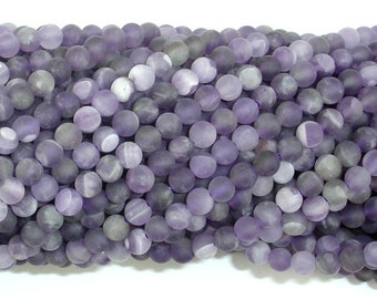 Matte Amethyst Beads, 4mm(4.3mm) Round Beads, 15 Inch, Full strand, Approx 94 beads, Hole 0.8mm (115054054)