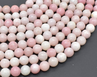 Pink Opal, 8mm(8.3mm) Round Beads, 15.5 Inch, Full strand, Approx 49 beads, Hole 1mm, AB quality (350054010)