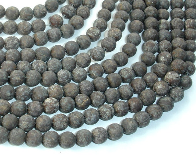 Matte Brown Snowflake Obsidian Beads, 6mm (6.3mm) Round Beads, 15 Inch, Full strand, Approx 62 beads, Hole 1mm (193054006)