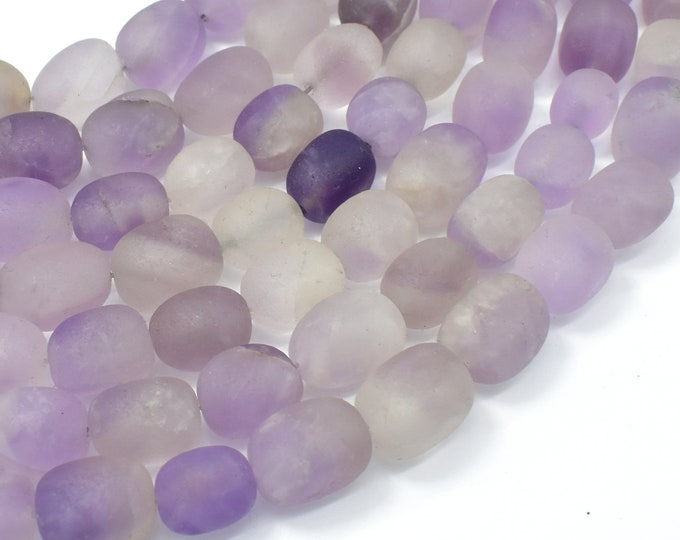 Matte Lavender Amethyst, Light Purple, 11x15mm Nugget Beads, 15 Inch, Full strand, Approx 25-26 beads, Hole 0.8mm (115047023)