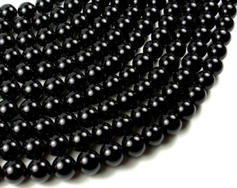 Black Onyx Beads, Round 12 mm, 15.5 Inch, Full strand, Approx 33 beads, Hole 1 mm, AA quality (140054005)