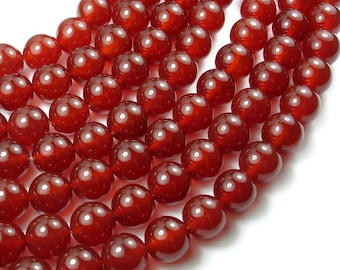 Carnelian, 12mm Round Beads, 15.5 Inch, Full strand, Approx 33 beads, Hole 1.2 mm, A quality (182054005)