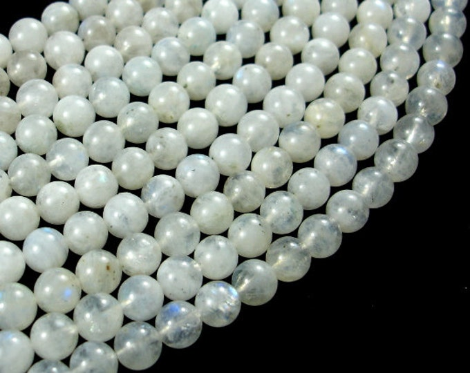 White Rainbow Moonstone Beads, Round, 6mm, 15 Inch, Full strand, Approx 62-64 beads, Hole 0.8mm, A quality (321054014)