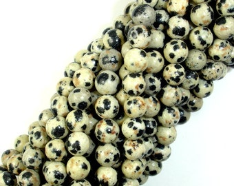 Dalmation Jasper Beads, Round, 6mm(6.5mm), 15.5 Inch, Full strand, Approx 60-64 beads, Hole 1 mm, A quality (204054006)