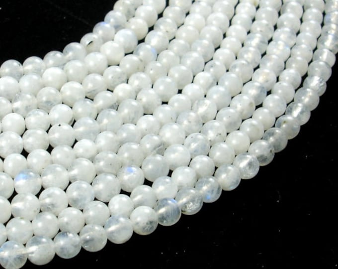 White Moonstone Beads, 4mm (4.2mm) Round Beads, 15.5 Inch, Full strand, Approx 95-100 beads, Hole 0.6mm, A quality (321054019)