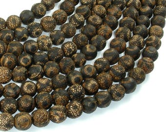 Crackle Tibetan Agate, 10mm(9.8mm) Round Beads, 14 Inch, Full strand, Approx 38 beads, Hole 1.2mm (122054261)