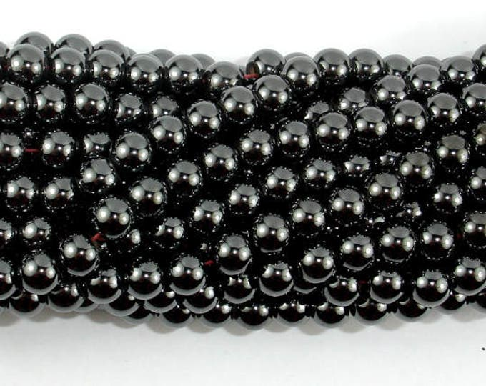 Magnetic Hematite Beads, 6mm(5.9mm) Round Beads, 16 Inch, Full strand, Approx 76 beads, Hole 1 mm, A quality (269054007)