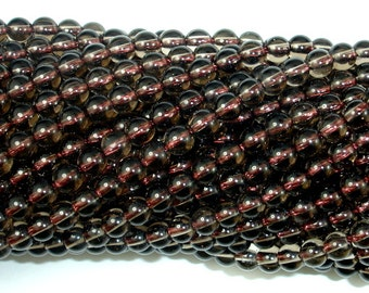 Smoky Quartz, 4mm (4.6mm) Round Beads, 15.5 Inch, Full strand, Approx 87 beads, Hole 0.8 mm, AA quality (408054004)