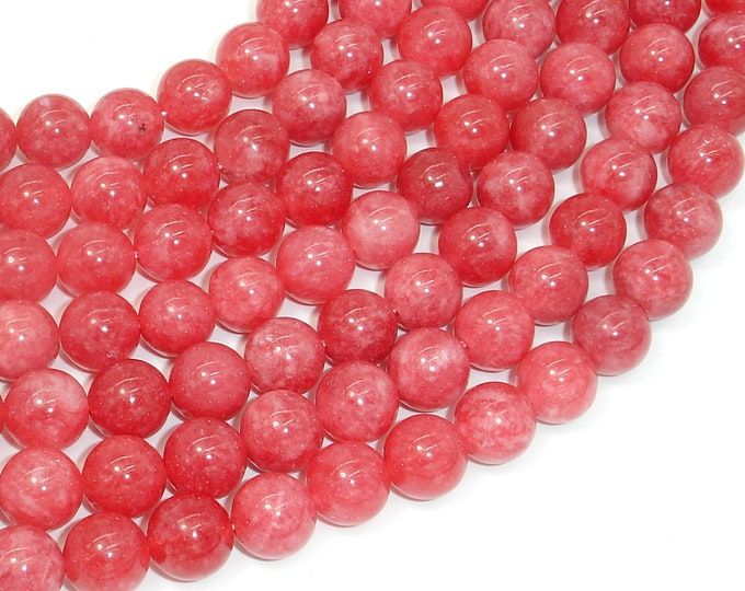 Malaysia Jade Beads, 10mm Round Beads, 15 Inch, Full strand, Approx 38 beads, Hole 1mm,A quality, Imitation Rhodochrosite(211054178)