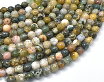 Ocean Jasper Beads, 6mm (6.2mm) Round Beads, 15.5 Inch, Full strand, Approx 66 beads, Hole 0.8mm, A quality (330054014)