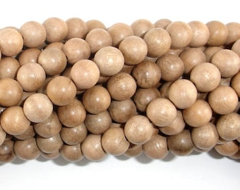 Silkwood Beads, 8mm(8.3mm) Round Beads, 35 Inch, Full strand, Approx 108 Beads, Mala Beads (011739001)
