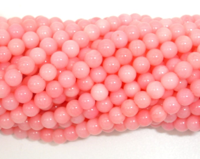 Pink Coral Beads, Angel Skin Coral, 4mm (4.7mm) Round Beads, 15.5 Inch, Full strand, Approx 88 beads, Hole 0.5mm, A quality (118054002)
