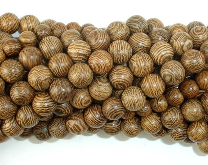 Wenge Wood Beads, 8mm Round Beads, 34 Inch, Full strand, Approx 108 Beads, Mala Beads (011735002)