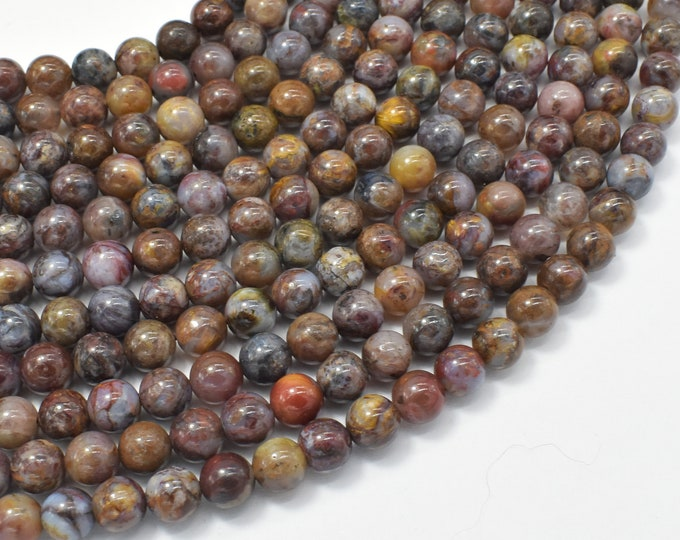 Pietersite Beads, 6mm (6.3mm) Round Beads, 15.5 Inch, Full strand, Approx 65 beads, Hole 1mm, A quality (346054010)