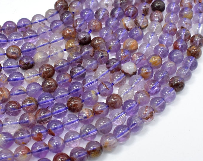 Super Seven Beads, Cacoxenite Amethyst, 6mm Round Beads, 15.5 Inch, Full strand, Approx 64 beads, Hole 1mm (460054003)