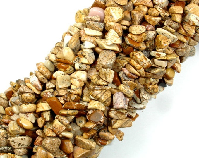 Picture Jasper, 4mm - 9mm Chips Beads, 33 Inch, Long full strand, Hole 0.8 mm (345005001)