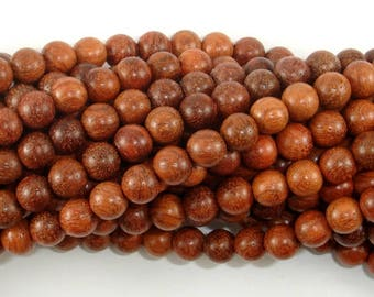 Rosewood Beads, 6mm(6.3mm) Round Beads, 25 Inch, Full strand, Approx 108 Beads, Mala Beads (011737001)