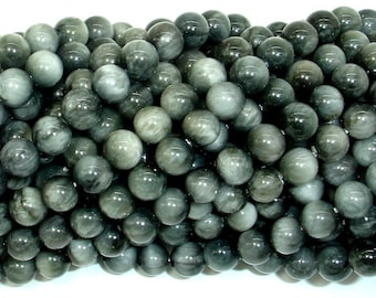 Hawk Eye Beads, Round, 6 mm, 15.5 Inch, Full strand, Approx 65 beads, Hole 0.8mm, A quality (274054003)