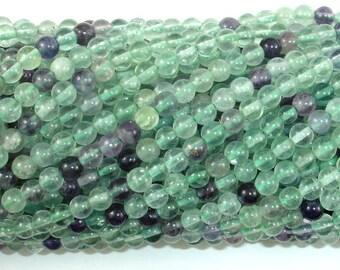 Fluorite Beads, Rainbow Fluorite, 4mm(4.5mm) Round Beads, 15.5 Inch, Full strand, Approx 93 beads, Hole 0.8mm (224054024)