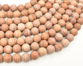 Pink Banded Jasper, 8mm (8.3mm) Round Beads, 15.5 Inch, Full strand, Approx 48 beads, Hole 1mm (288054037)