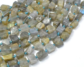 Labradorite Beads, Approx 6.5x6.5x7mm Cube Beads, 18 Inch, Full strand, Approx 50 beads, Hole 1mm (295009001)