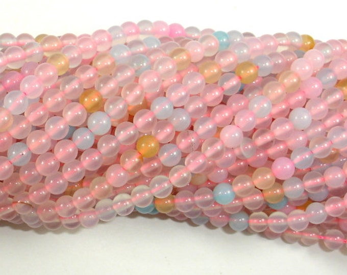 Agate Beads, 4mm(4.3mm) Round Beads, 15.5 Inch, Full strand, Approx 97 beads, Hole 0.8mm, A quality (122054207)