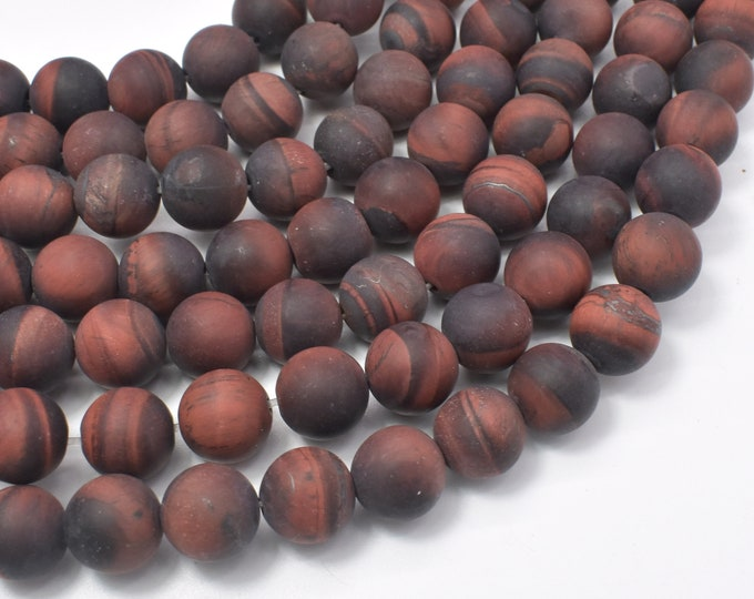 Matte Red Tiger Eye Beads, Round, 10mm, 15 Inch, Full strand, Approx 38 beads, Hole 1mm (383054017)