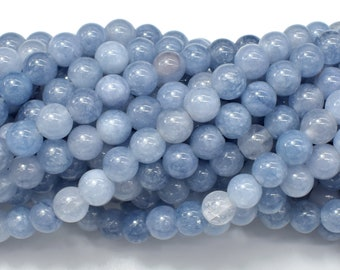 Jade Beads-Blue Gray, 6mm (6.3mm) Round Beads, 15 Inch, Full strand, Approx 66 beads, Hole 1mm (211054188)