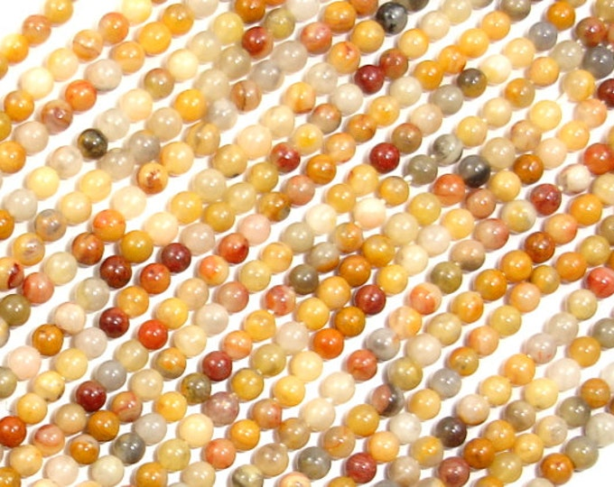 Crazy Lace Agate Beads, Round, 2mm, 16 Inch, Full strand, Approx 180 beads, Hole 0.4 mm, A quality (202054013)