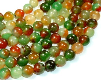 Agate Beads, 10mm (10.5 mm) Round Beads, 15 Inch, Full strand, Approx 38 beads, Hole 1 mm (122054192)