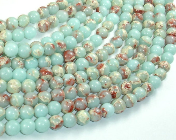 Impression Jasper, 6mm(6.5mm) Round Beads, 15.5 Inch, Full strand, Approx 63 beads, Hole 1mm (281054033)