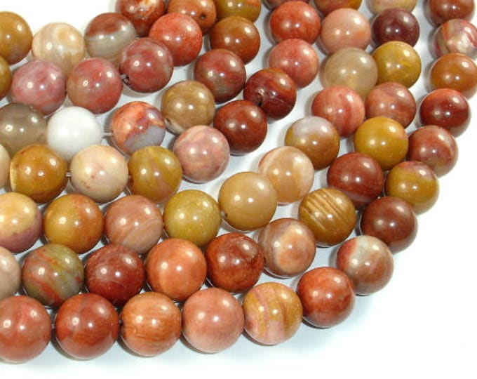 Petrified Wood, 10mm (10.5mm) Round Beads, 15.5 Inch, Full strand, Approx 39 beads, Hole 1mm, A quality (355054010)