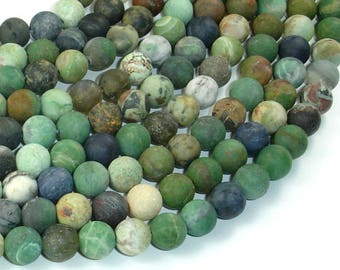 Matte Mixed Stone, 8mm Round Beads, 15.5 Inch, Full strand, Approx 49 beads, Hole 0.8mm (318054011)