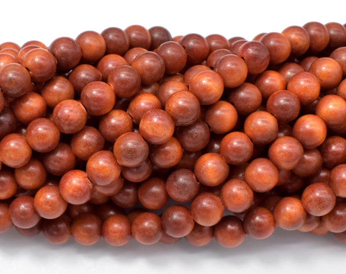 Dragon Blood Wood Beads, 6mm Round Beads, 25 Inch, Full strand, Approx 108 Beads, Mala Beads (011751001)