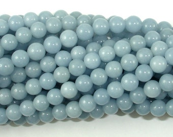 Angelite, 6mm(6.2mm) Round Beads, 16 Inch, Full strand, Approx 68 beads, Hole 0.8mm, A quality (117054002)