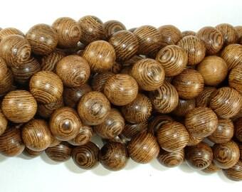 Wenge Wood Beads, 10mm Round Beads, 42 Inch, Full strand, Approx 108 Beads, Mala Beads (011735003)