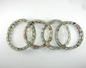 Phantom Quartz Beads,Phantom Quartz Bracelet,Lodolite Quartz,(8-9)x(12-13)mm Double Hole Rectangle Beads,7.5 Inch,Hole 1mm(008951006)