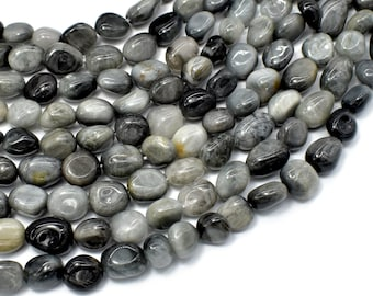 Hawk Eye Beads, Approx 7x10mm Nugget Beads, 15.5 Inch,Full strand, Approx 40-46 beads, Hole 1mm (274047001)
