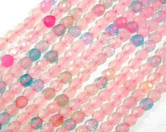 Agate Beads, 4mm Faceted Round, 14.5 Inch, Full strand, Approx 92 beads, Hole 0.8 mm (122025275)