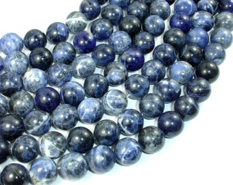 Sodalite Beads, 12mm (12.5 mm) Round Beads, 15.5 Inch, Full strand, Approx 32 beads, Hole 1 mm (411054016)