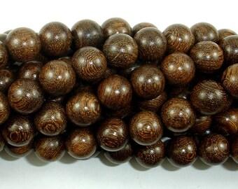 Gold Phoebe Ebony Beads, Gold Wire Sandalwood, 10mm Round Beads, 42 Inch, Full strand, Approx 108 Beads, Mala Beads (011745003)