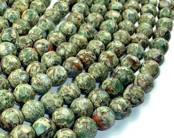 Aqua Terra Jasper Beads, Rough Round, 12 mm, 15.5 Inch, Full strand, 33 beads, Hole 1 mm (281054023)