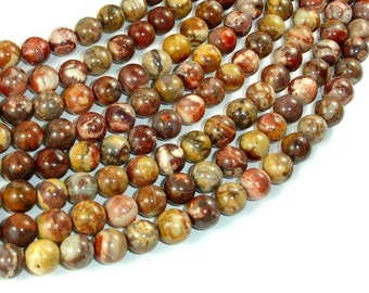 Birdseye Rhyolite, 8mm(8.4mm) Round Beads, 16 Inch, Full strand, Approx 49 Beads, Hole 1mm, A quality (145054002)