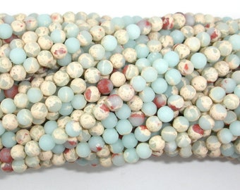 Matte Impression Jasper, 4mm (4.4mm) Round Beads, 15 Inch, Full strand, Approx 96 beads, Hole 0.8mm (281054039)