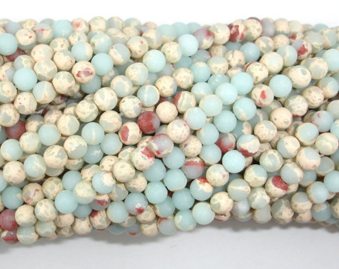Matte Impression Jasper, 4mm (4.2mm) Round Beads, 15 Inch, Full strand, Approx 96 beads, Hole 0.8mm (281054039)