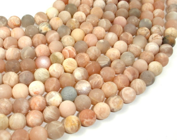 Matte Sunstone Beads, 8mm(8.4mm) Round Beads , 15.5 Inch, Full strand, Approx 47 beads, Hole 1 mm (418054009)