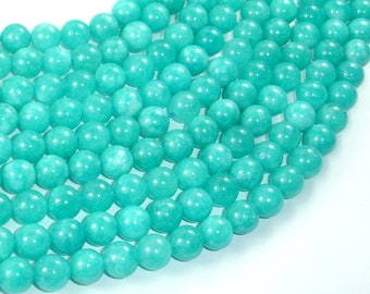 Sponge Quartz Beads-Teal, 8mm (8.5mm) Round Beads, 15 Inch, Full strand, Approx 46 beads, Hole 1mm, A quality (446054005)