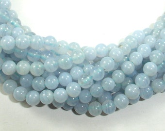 Blue Chalcedony Beads, Blue Lace Agate Beads, Round, 4mm, 16 Inch, Full strand, Approx 95 beads, Hole 0.5 mm, A- quality (152054004)