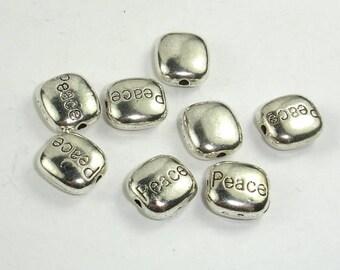 Metal Spacer, Zinc Alloy, Antique Silver Tone, 9x10x4.5mm, 20 pcs, Hole 1.5mm (006852053)